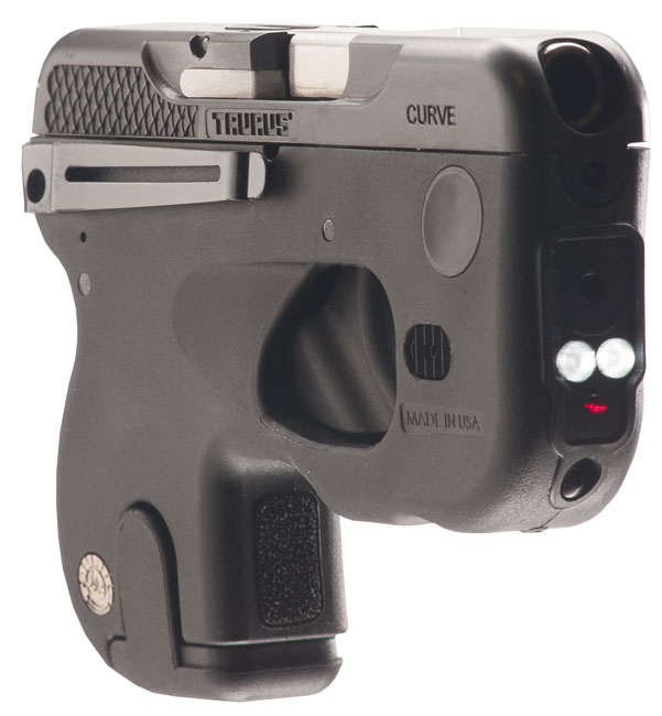 A Taurus 180 Curve incorpora significativos detalhes que acentuam seu emprego como arma compacta de porte dissimulado para defesa pessoal. (Imagem: Taurus International)
