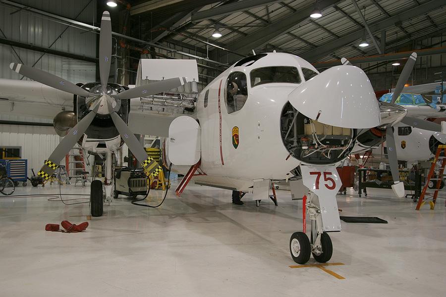 .  A modernização dos C-1A faz parte do programa de recuperação da aviação embarcada de asas fixas da Marinha do Brasil                             .Foto Marsh Aviation.