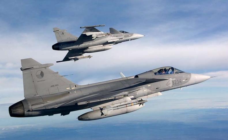 Além de modificações no hardware, os Gripen C/D da República Tcheca receberão um novo software de missão. (Imagem: Divulgação)