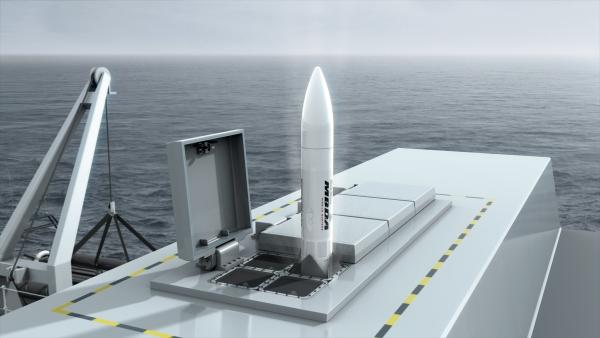 """A tecnologia de lançamento vertical """"suave"""" do Sea Ceptor dispensa um sistema complexo de lançamento. (Imagem: Divulgação)"""