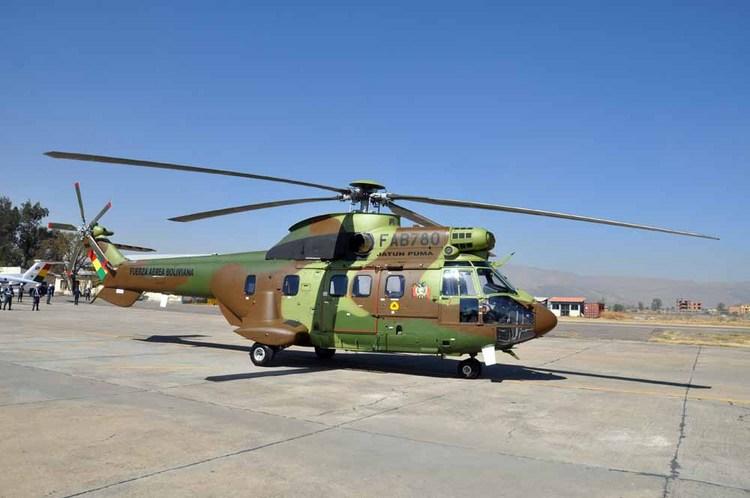 Os Super Puma da Força Aérea da Bolívia irão preencher a lacuna deixada pelos UH-1H. (Imagem: Ministério da Defesa da Bolívia)