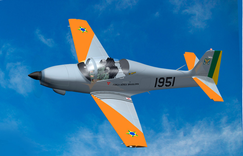O SOVI emerge como potencial substituto dos T-25 e T-27 da AFA. (Imagem: Novaer Craft)