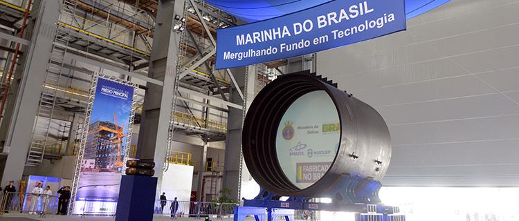 Será no prédio principal do Estaleiro de Construção que os cinco submarinos do PROSUB serão montados. (Imagem: Assessoria MD)
