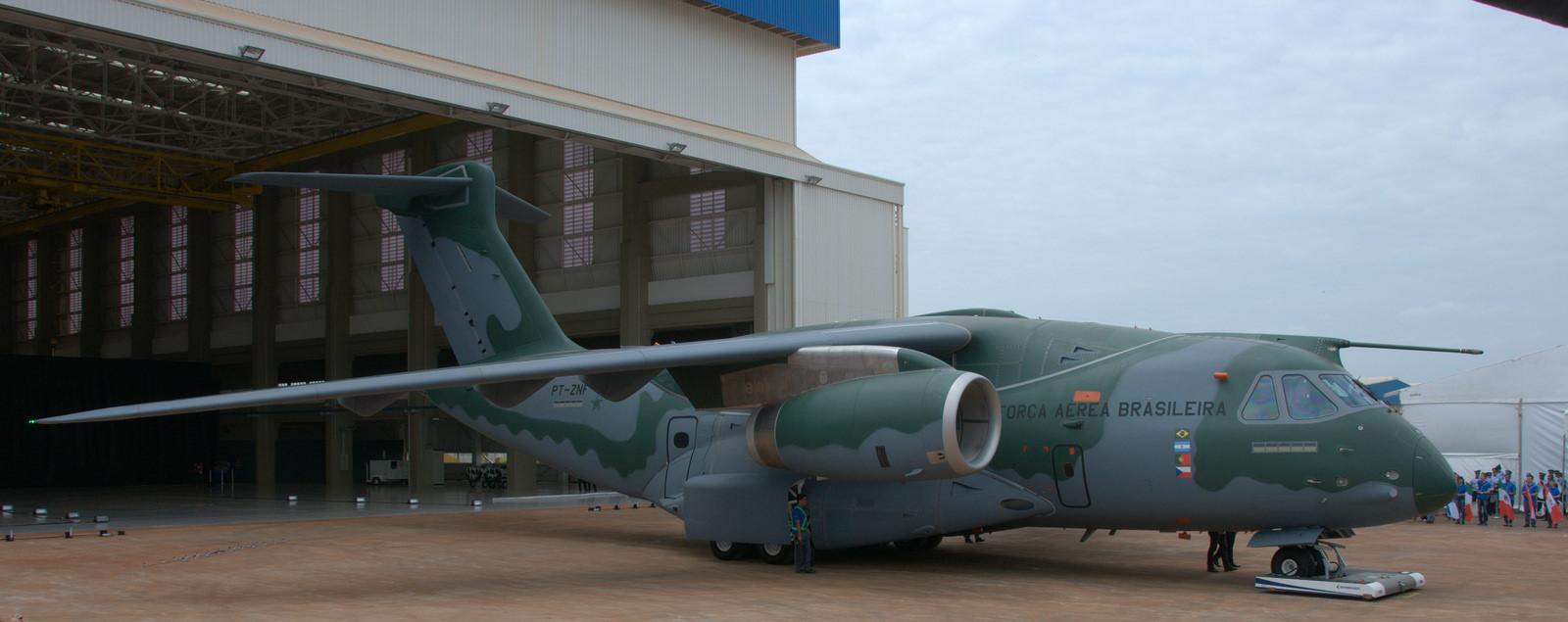 Cerimônia de roll out do KC-390 da EDS. (Imagem: Roberto Caiafa)