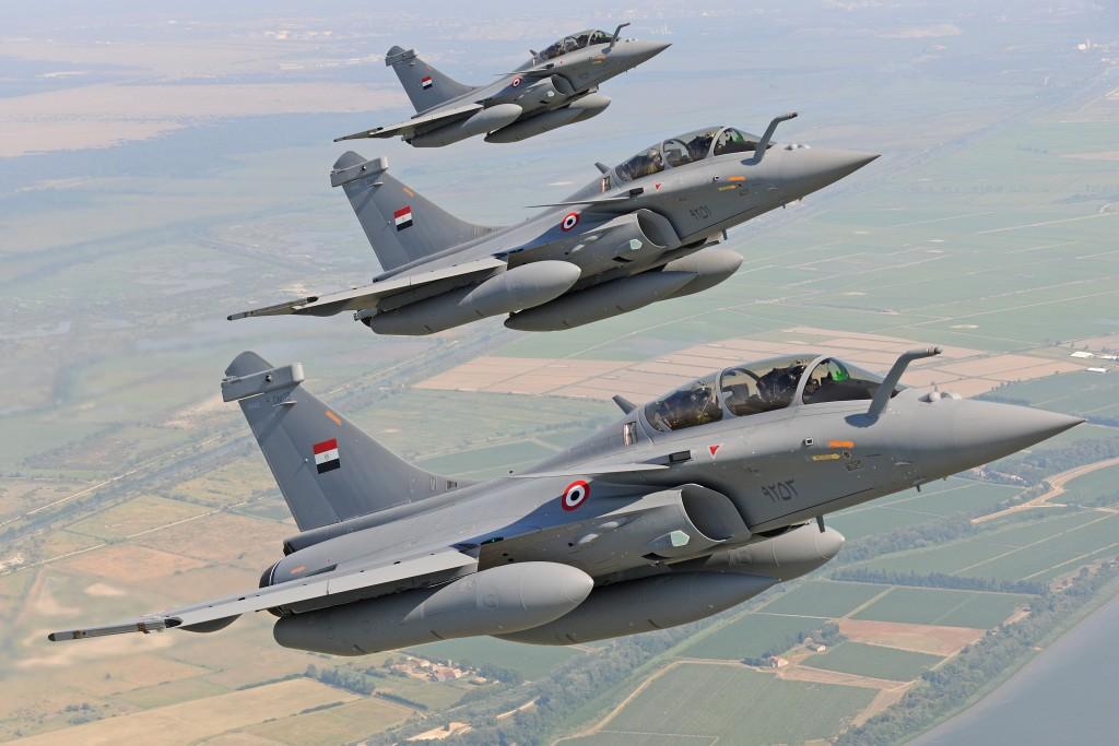 Rafale B Egypt in flight.