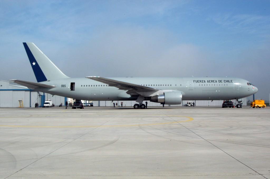 A Força Aérea do Chile opera um Boeing 767-300ER similar ao modelo que a FAB irá receber. (Imagem: Força Aérea do Chile)