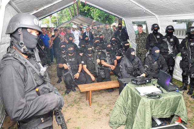 Exercício Conjunto Interagências envolveu Forças Armadas e órgãos de segurança pública. (Imagem: CMA)