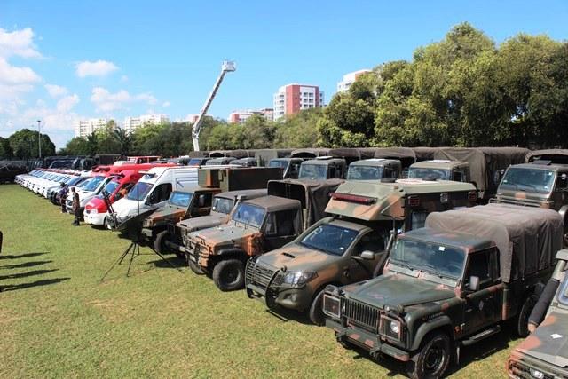 Viaturas e equipamentos foram apresentados durante o apronto. (Imagem: CCDA-Manaus)