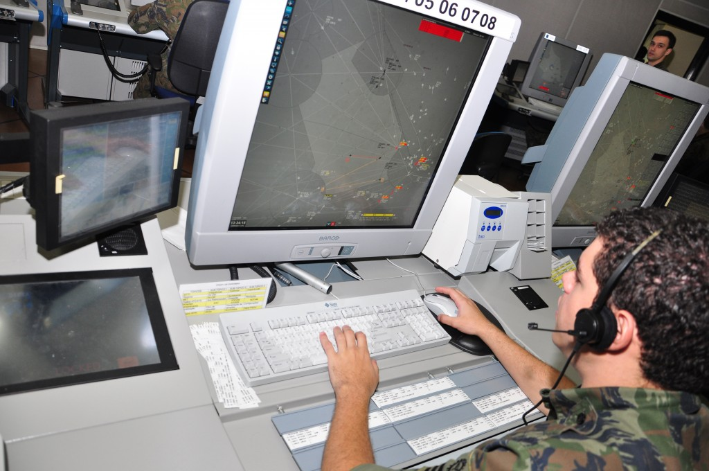 Sistema Sagitário para controle de tráfego aéreo. (Imagem: Força Aérea Brasileira)