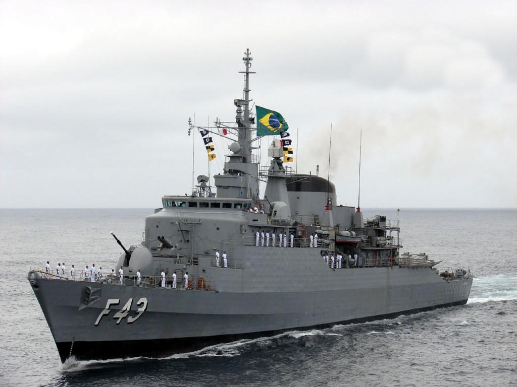 A Fragata Liberal cumpriu sua primeira missão na UNIFIL entre maio de 2012 e janeiro de 2013 (Imagem: Marinha do Brasil)