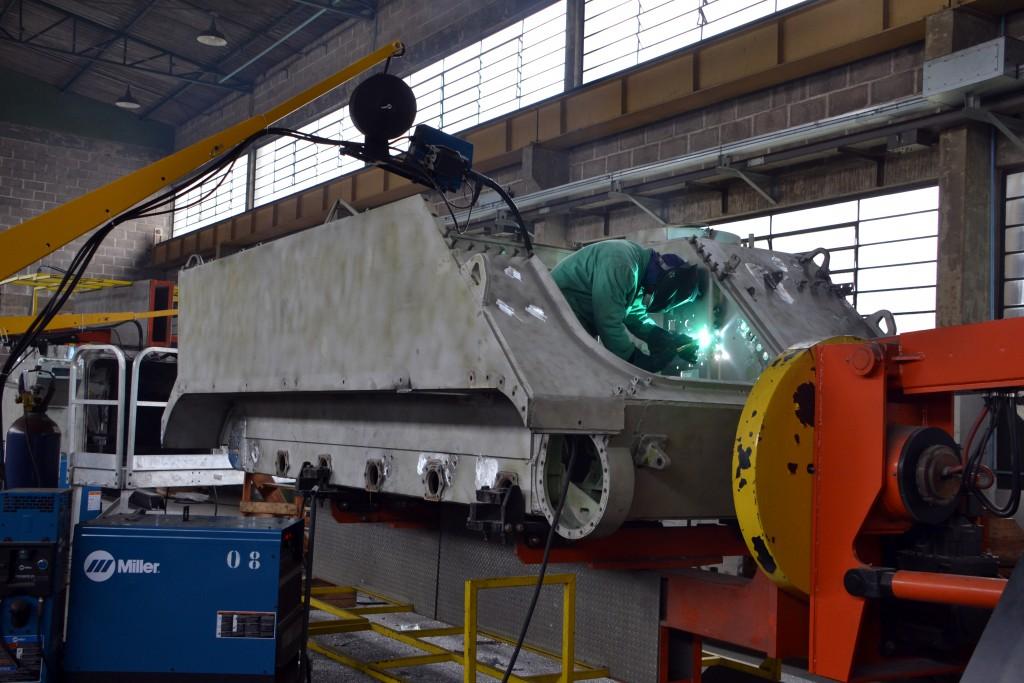 O PqRMnt/5 está em processo de modernização do 2º lote do M113-BR (Imagem: Hélio Higuchi)