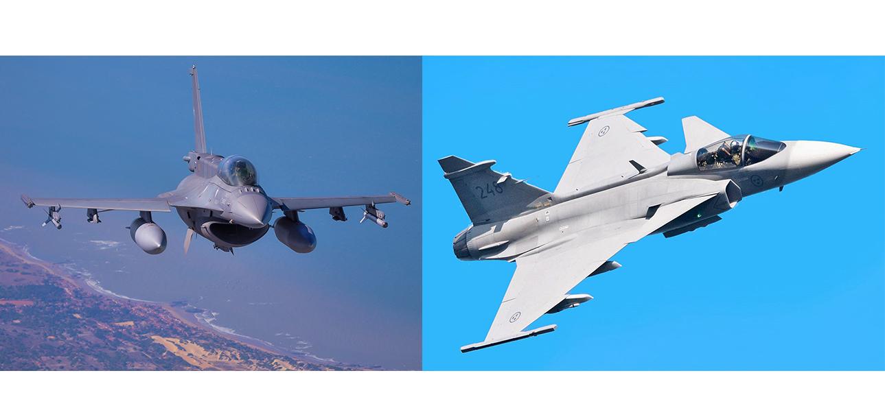 F-16 x Gripen: Bulgária inicia conversações com os EUA sobre