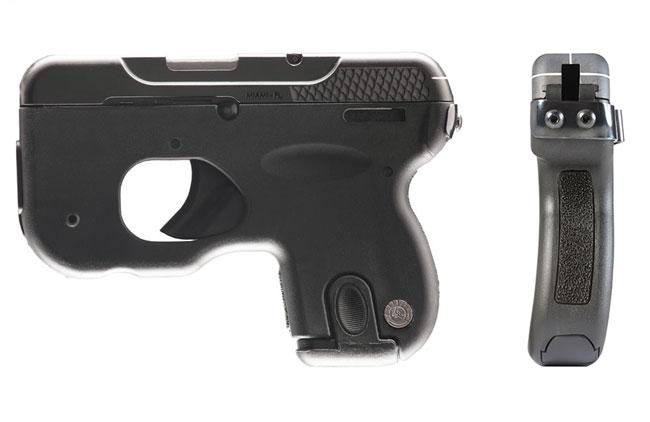 A configuração da nova pistola, podendo ser observada a ligeira curvatura para a esquerda de sua empunhadura. (Imagem: Taurus International)