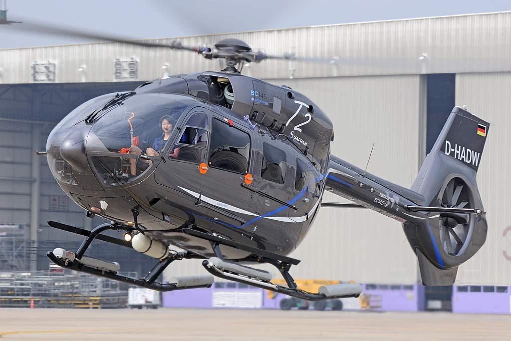 De acordo com a Airbus Helicopters, o EC145 T2 foi desenvolvido  com  foco nas forças policiais.Foto Airbus Helicopters.