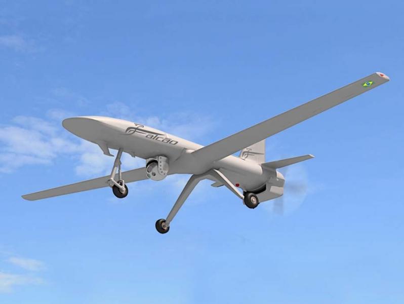 VANT Falcão da Avibras (Imagem: Avibras Aeroespacial)