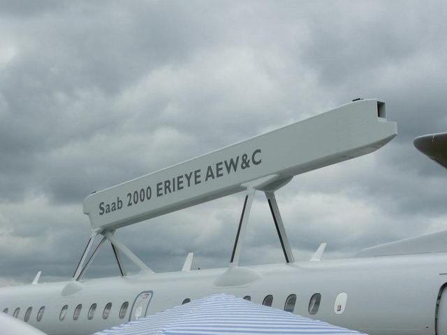 ERIEYE AEW, radar aerotransportado para vigilância marítima e aérea. (Imagem: SAAB)
