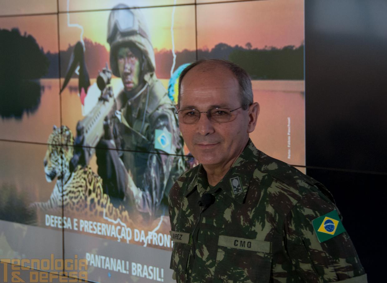 O comandante do CMO, general-de divisão Juarez Aparecido de Paula Cunha. (Imagem: Roberto Caiafa)