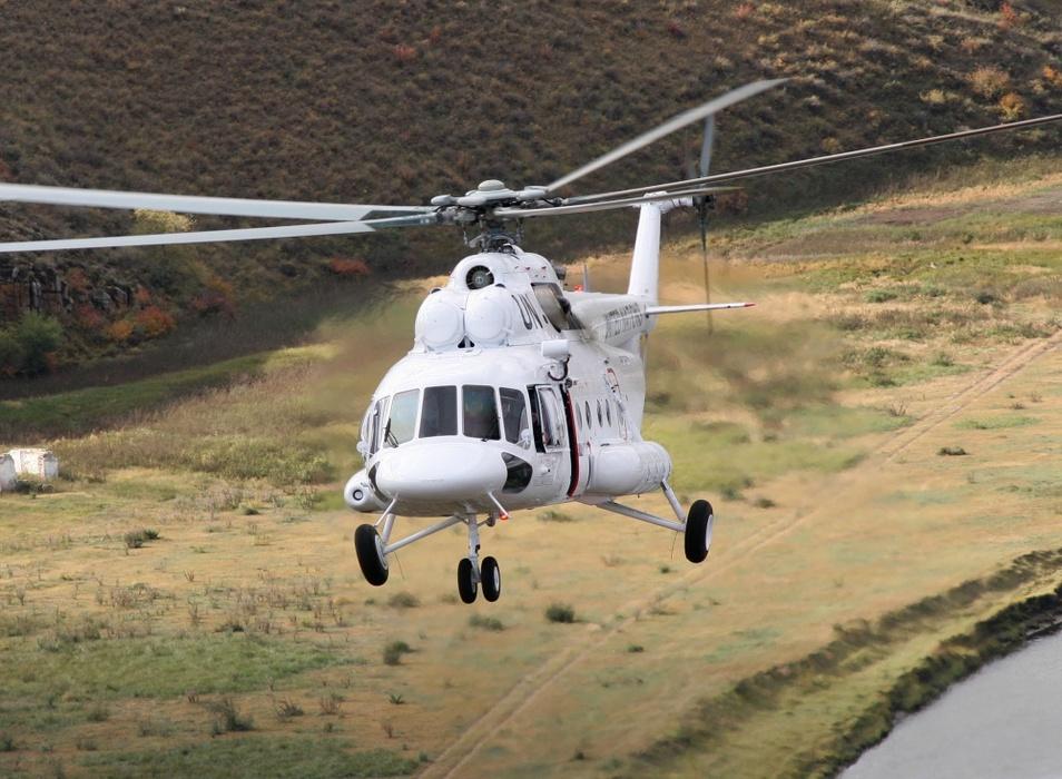 A Força Aérea Argentina opera dois Mi-17E em missões SAR e na Antártida . (Imagem: Russian Helicopters)