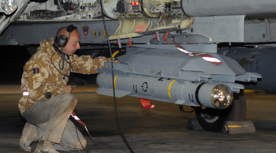 A Tornado GR4 fitted with the Brimstone Missile flew a mission over Iraq today, 18 December 2008. The GR4 belongs to No 9 Squadron from RAF Marham who are currently based in the Middle East. The Tornado was crewed by Pilot Flight Lieutenant James Heeps and Navigator Flight Lieutenant Ken McLean, Armourer Corporal Kevin Stephenson armed the Brimstone in the pre-flight checks and Aircraft Maintenance Mechanic Senior Aircraftsman Steve Burke saw the aircraft off onto its mission.