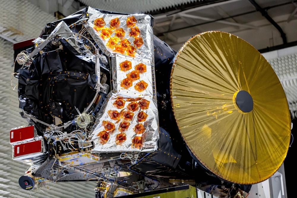 Todos os sistemas do satélite ExoMars, que já está a caminho de Marte, estão prontos. (Imagem: Thales Alenia Space)