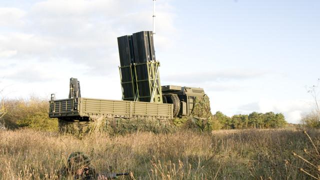 O EMADS é um sistema de defesa  antiaérea de grande mobilidade. (Imagem: MBDA)