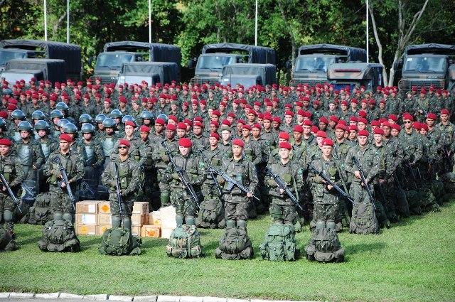 A Brigada de Infantaria Paraquedista atuará como Força de Contingência durante os Jogos Rio 2016 (Imagem: CML)
