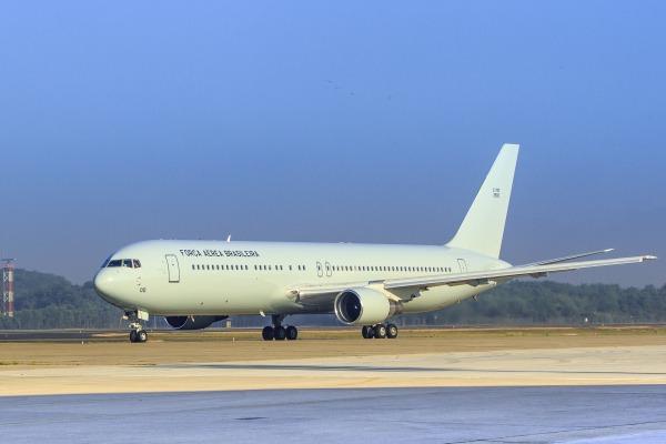O Boeing 767 300ER foi entregue neste domingo no Rio de Janeiro. (Imagem: Agência Força Aérea)