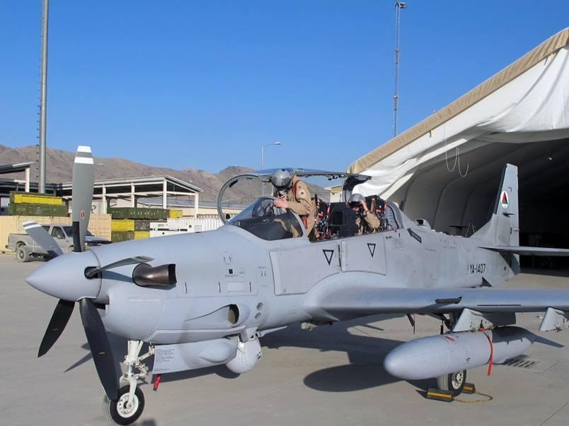 As primeiras surtidas dos A-29 Afegãos resultaram em expressivas perdas para os insurgentes. (Imagem:  Força Aérea dos Estados Unidos)
