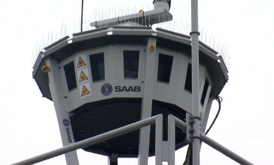 Torre Remota de Sensores. (Imagem: Saab)