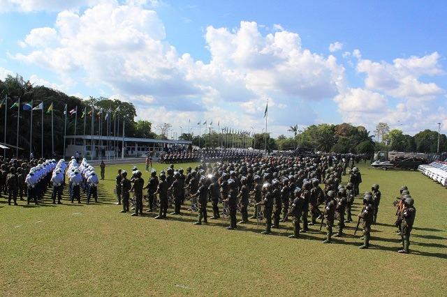 Militares da três Forças Armadas prontos para atuar durante as Olimpíadas. (Imagem: CCDA-Manaus)