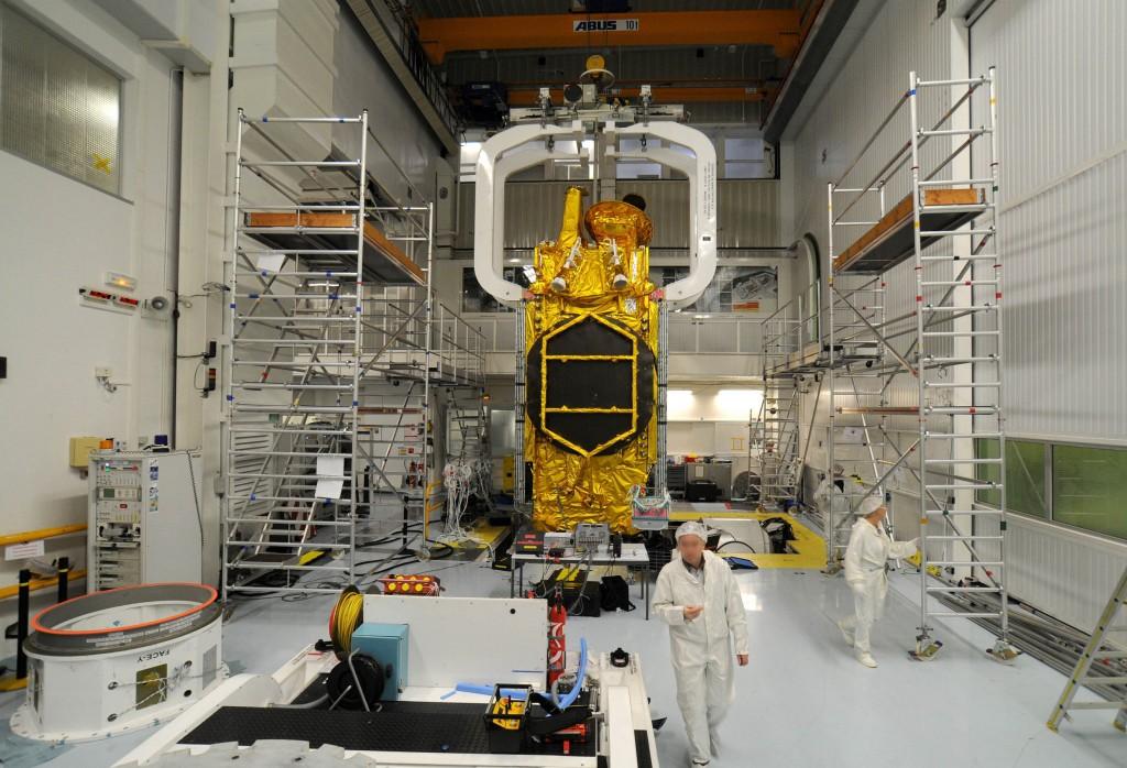 O projeto do SGDC está sendo sendo executado pela Thales Alenia Space em parceria com a brasileira Visiona. (Imagem: Thales Alenia Space)