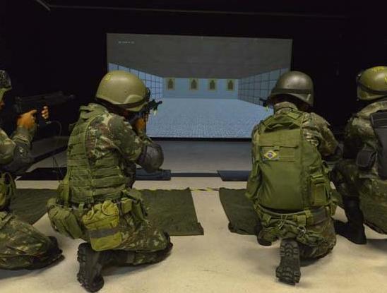 Centro de Treinamento Virtual localizado nas instalações do 20º Batalhão de Infantaria Blindado (20º BIB), sediado em Curitiba (PR) (Imagem: Exército Brasileiro)