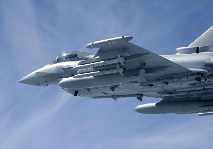 A MBDA já fornece mísseis ASRAAM para os Typhonn da RAF (Imagem: UK MoD)