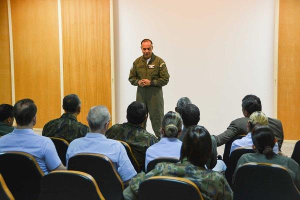 Brigadeiro do ar Arnaldo Augusto do Amaral Neto,  comandante  da UNIFA (Imagem: UNIFA)