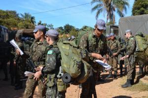 3a Cia Fuz L Mth (Invicta)/12° BIL (Mth) realiza adestramento de marcha em terreno de montanha com apoio de C2 de equipe da 4a Cia Com L (Mth), realizando a Travessia Lapinha-Tabuleiro